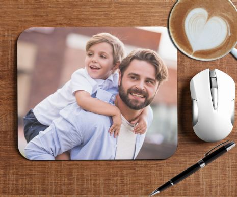 Personalised PHOTO Mouse Pad PC Computer Mat - Any Image, Text or Logo N1